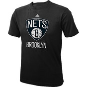 Brooklyn Nets Youth T-Shirt - Black Primary Logo