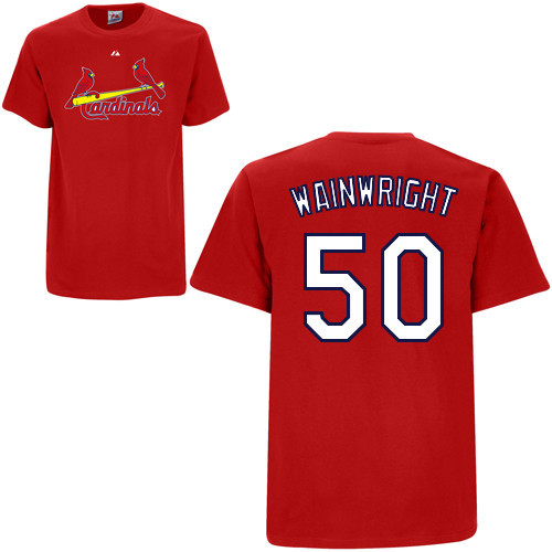 Adam Wainwright T-Shirt - Red St.Louis Cardinals Adult T-Shirt Photo c8960344a