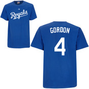 Alex Gordon T-Shirt - Royal Blue Kansas City Royals Adult T-Shirt