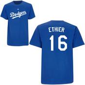 Andre Ethier T-Shirt - Royal Blue La Dodgers Adult T-Shirt
