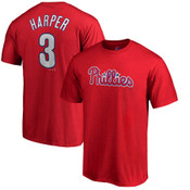 Bryce Harper T-Shirt - Red Philadelphia Phillies Adult T-Shirt