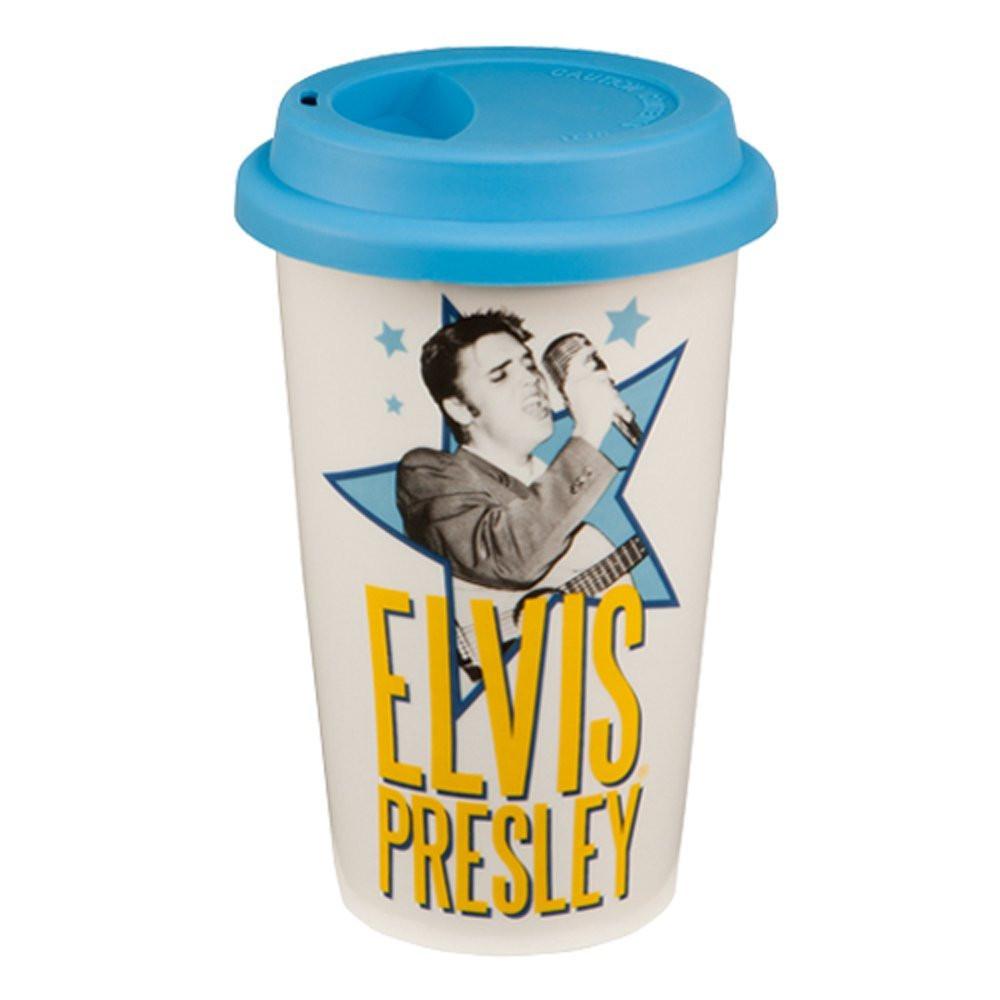 Elvis Presley 12oz Double Wall Ceramic Travel Mug photo