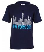 NYC Districts Skyline Navy Kids T-Shirt