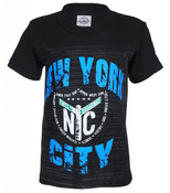 NYC Times Square Shield Black Kid's T-Shirt