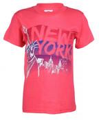 NY Liberty Skyline Brushed Fuchsia Kids T-Shirt