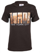 NYC Iconic Windows Brown Kids T-Shirt