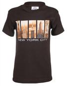 NYC Iconic Windows Brown Kids T-Shirt