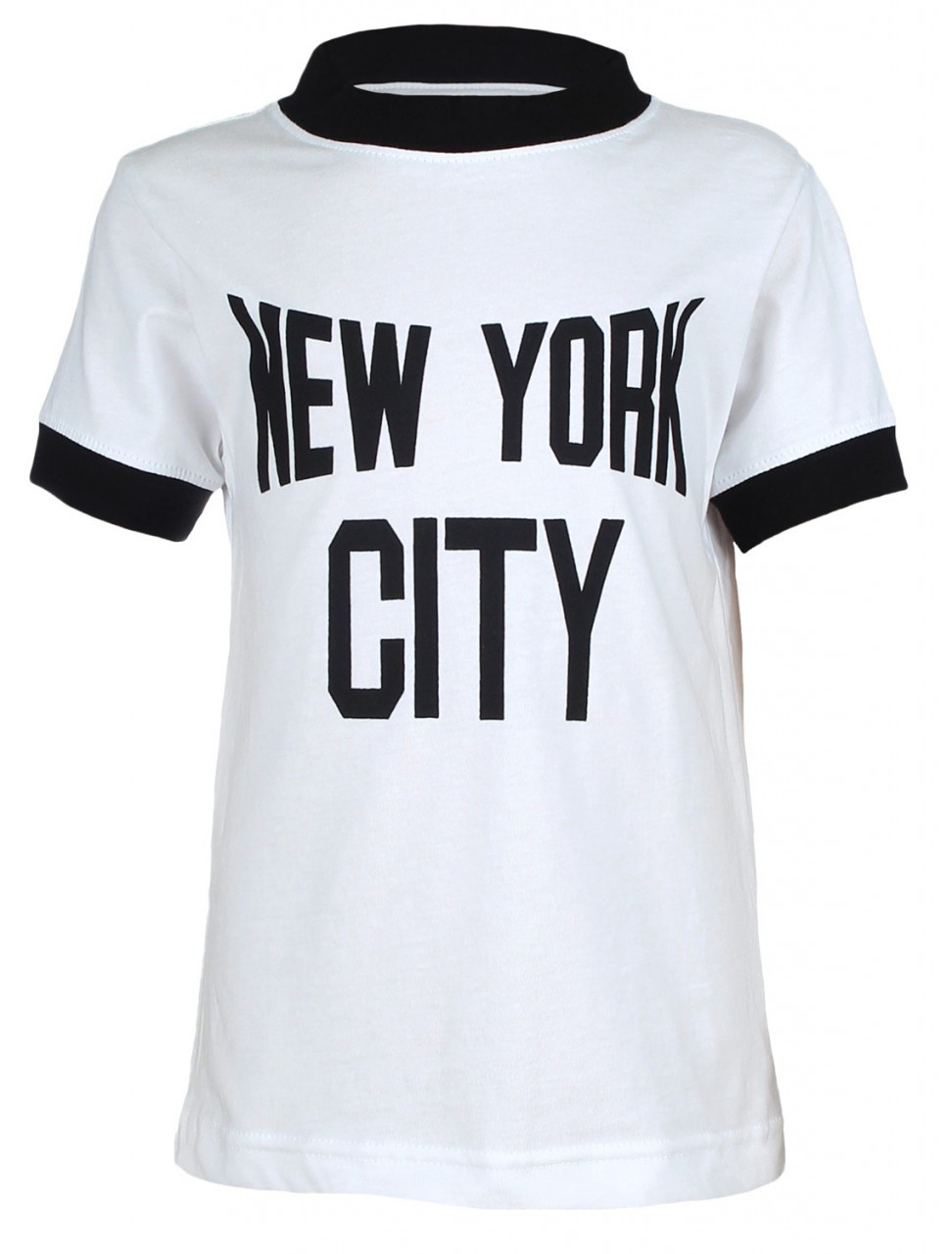 NYC White Ringer Design Kids T-Shirt Photo. Loading zoom b3af847a1b1