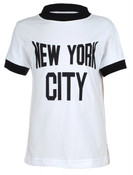 NYC White Ringer Design Kids T-Shirt