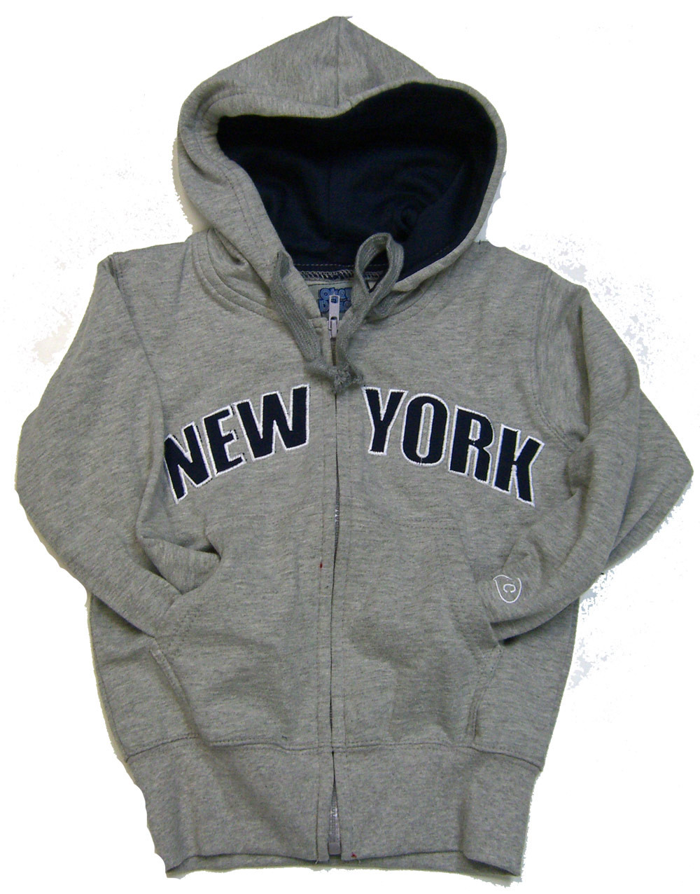 b09315f90a72 New York Kids Sweatshirt - Grey Zipper Hoodie