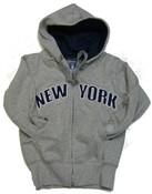 New York Kids Sweatshirt - Grey Zipper Hoodie