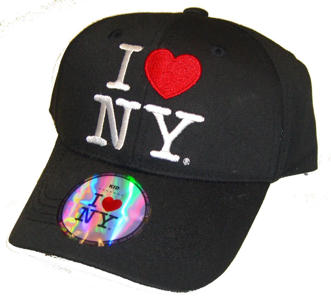 0027eb752 I Love NY Kids Hat - Black Cap
