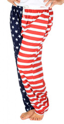 American Flag Pajama Pants - Adult Lounge Pants - front Photo