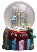 NY Skyline Big Apple Base 65mm Snowglobe - W WTC