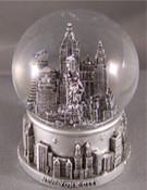 NY Skyline Silver 45mm Snowglobe
