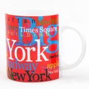 "NYC ""Hotspots"" Red 11 oz. Mug"