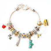 New York Pandora Style Euro Charm Bracelet