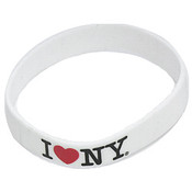 I Love NY Rubber Bracelet - White