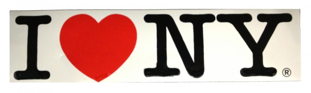 I Love NY Bumper Sticker photo