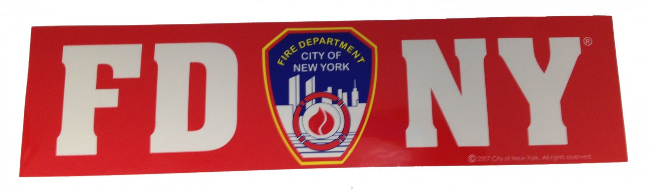 FDNY Red Bumper Sticker photo