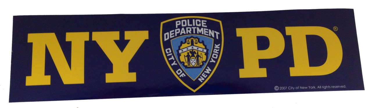 NYPD Navy Bumper Sticker photo