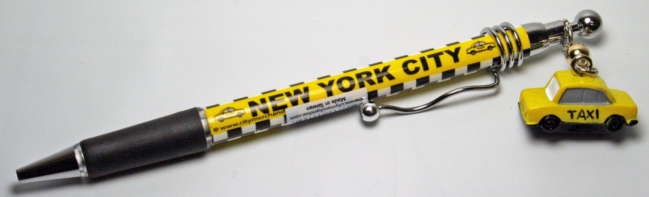 NYC Taxi Pen with Charm photo