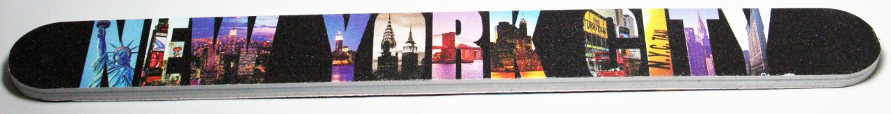 New York City Icons in Letters Nail File photo
