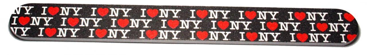 I Love NY Allover Nail File - Black photo