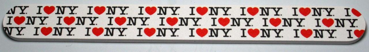 I Love NY Allover Nail File - White photo