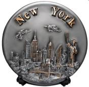 NY Skyline 3D Souvenir Plate - 8 Inch