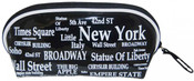 NYC Landmarks White Letters Cosmetic Bag