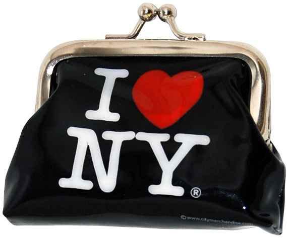 I Love NY Black Coin Purse photo