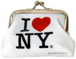 I Love NY White Coin Purse Photo