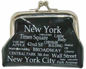 NYC Landmarks White Letters Coin Purse
