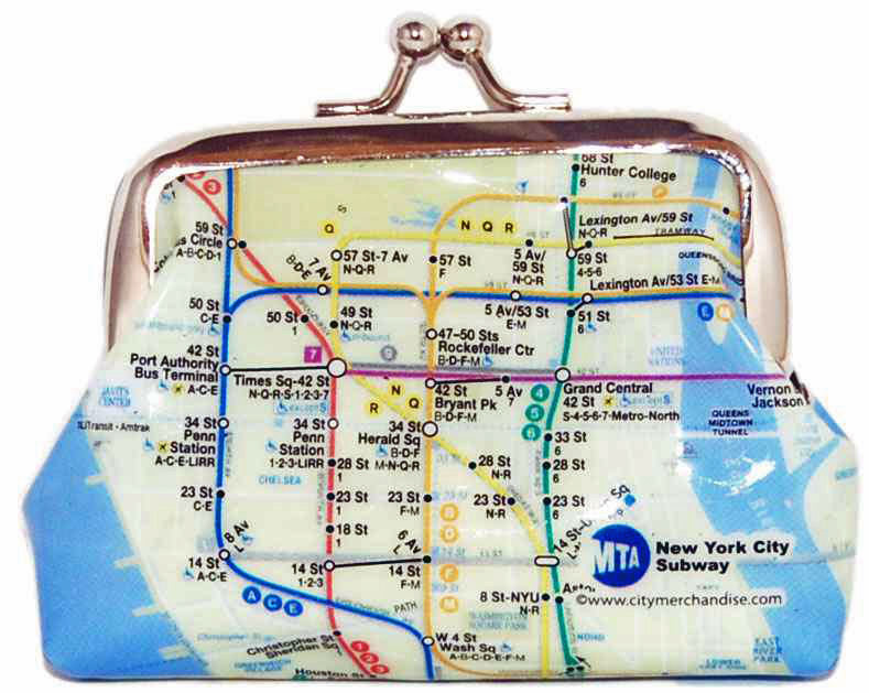 NYC Subway Map Coin Purse photo