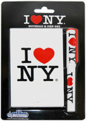 I Love NY White Notepad and Pen