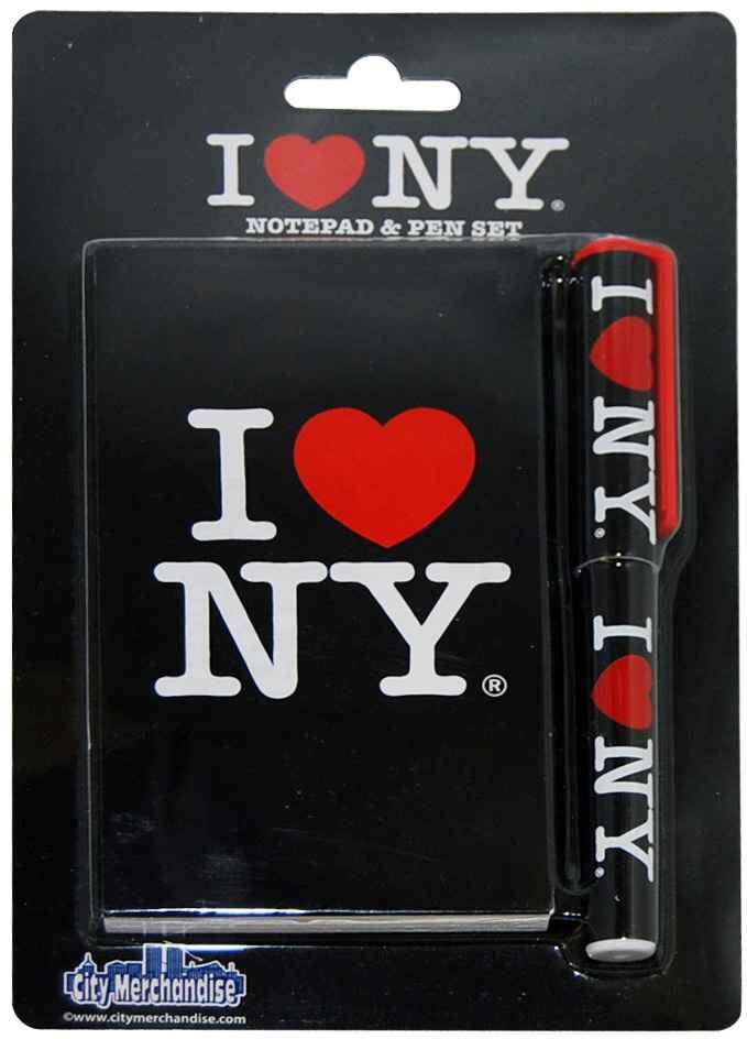 I Love NY Black Notepad and Pen photo