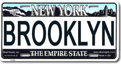 Brooklyn NY License Plate photo