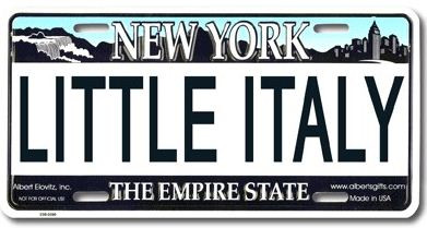 Little Italy NY License Plate photo