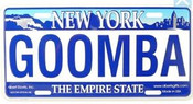 Goomba NY License Plate