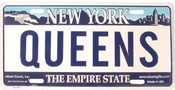 Queens NY License Plate