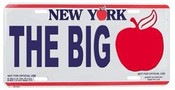 The Big Apple NY License Plate