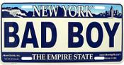 Bad Boy NY License Plate