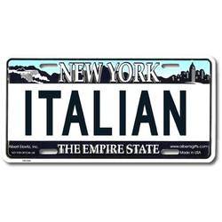 Italian NY License Plate Photo