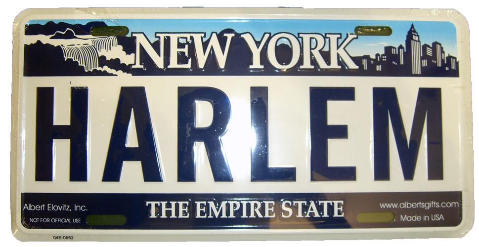 Harlem NY License Plate photo