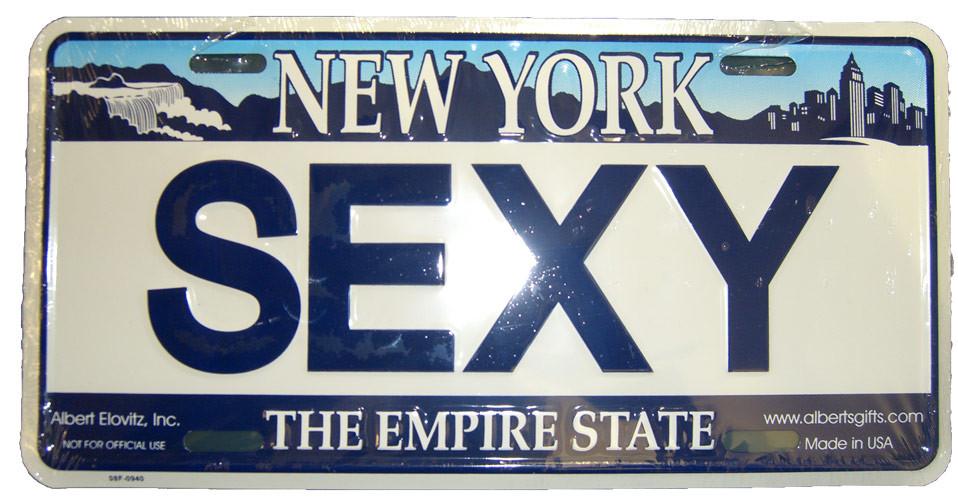 Sexy NY License Plate photo