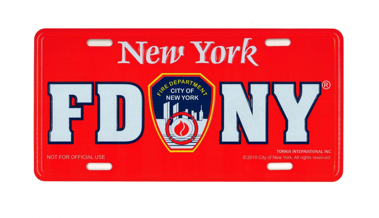 FDNY License Plate - Red photo