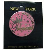 NY Princess Circle Pin