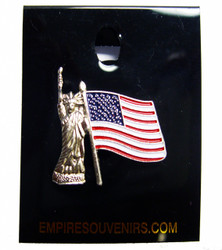 Lady Liberty with Flag Pin Photo