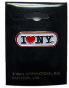 I Love NY White Banner Pin